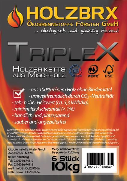 Vorschau: RUF TRIPLEX Holzbriketts, Flyer
