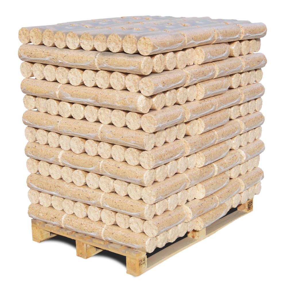 Vorschau: Nadelholzbriketts Holzbriketts rund Palette