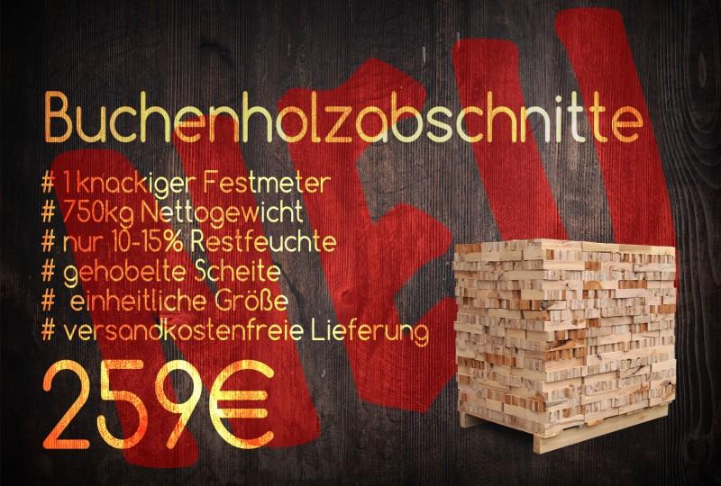 Buchenholz Abschnitte Werbung