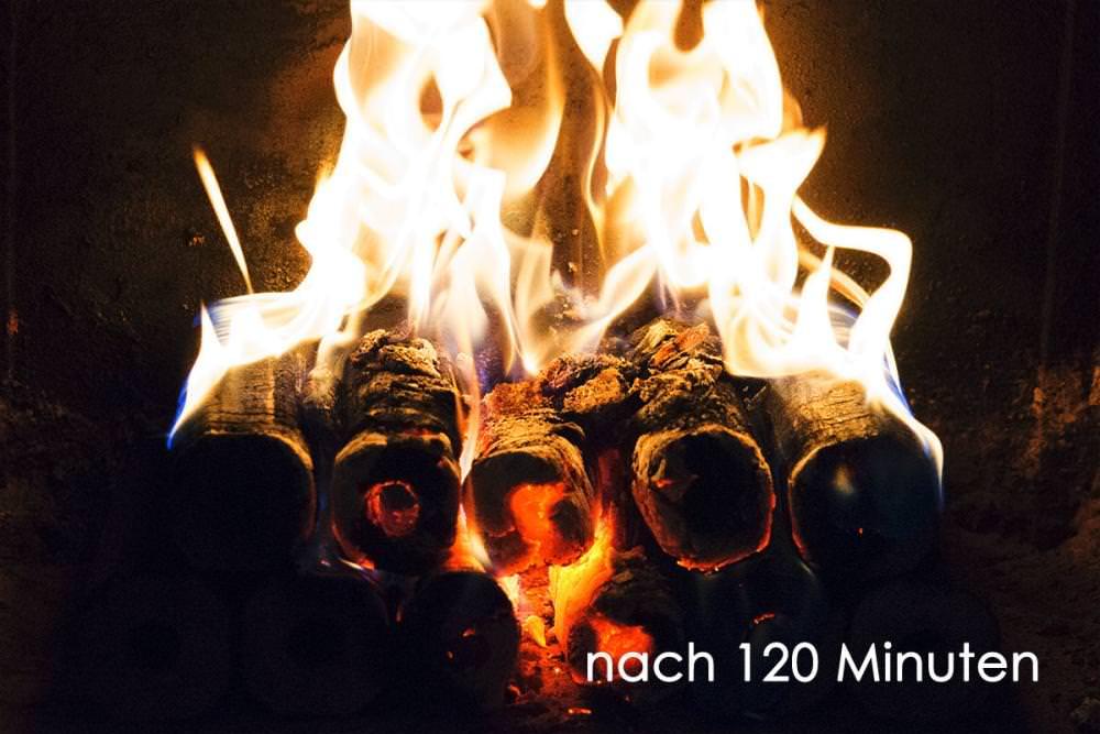 Vorschau: Holzbriketts Kamin Feuer machen 5